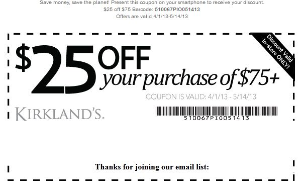 kirkland home decor coupons kirklands printable coupons november 2014 11612