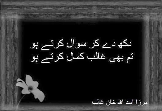 Poetry | Urdu Sad Poetry | Ghalib Sad Poetry | 2 Lines Mirza