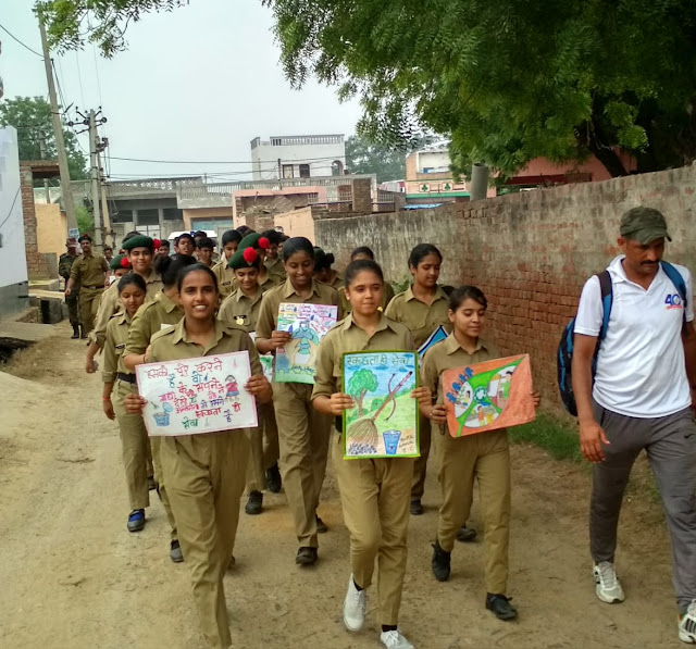 Children's education rally organized by St. Anthony School, Faridabad
