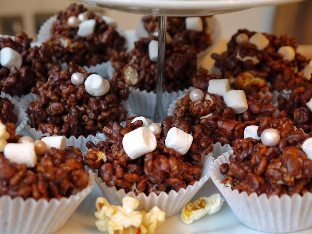 The Betty Stamp Lifestyle Blog Popcorn Salted Chocolate Rice Crispy Cakes