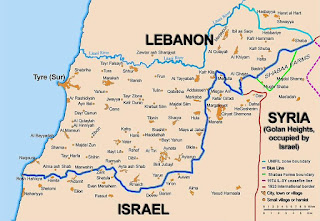 Kart over Sør-Libanon. Generisk (CC BY-SA 2.5) Wikimedia.