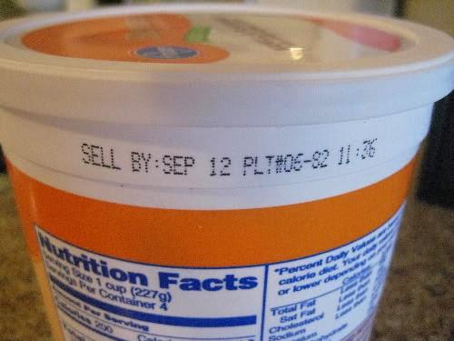 yogurt expiry date