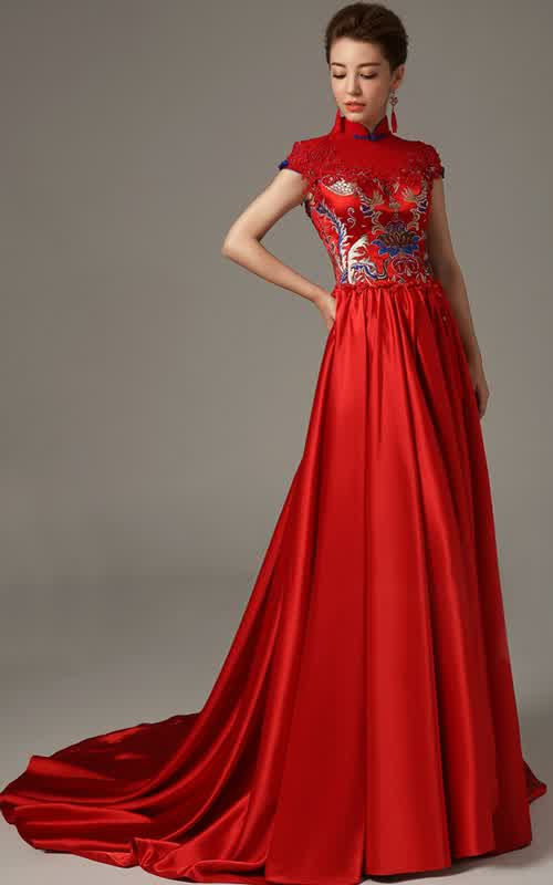 Princess A Line Red Wedding Dresses 2015 Bridal Wedding Fashion