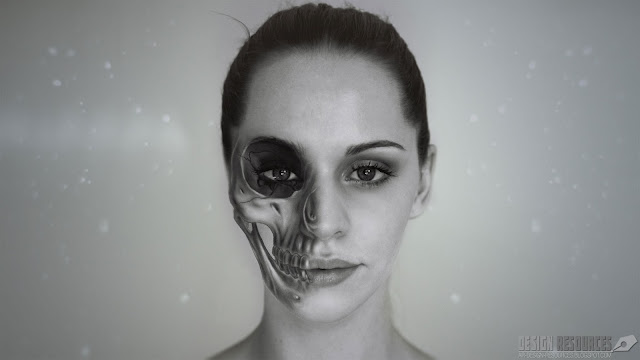 Half Skull Effect  — Photoshop Tutorial