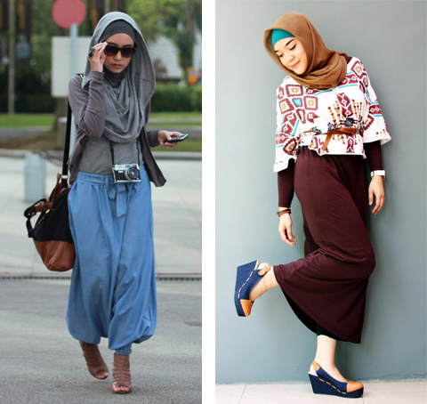 model baju casual hijab