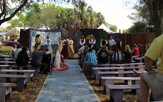 one of the many stage shows at the Florida renaissance festival