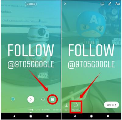 Cara menggunakan Mode TYpe Instagram Story yang baru di Android