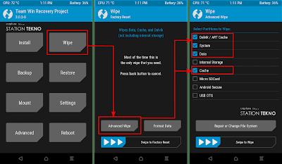 Instal MoKee Rom Nougat 7.1.2 Xioami Mi 4 LTE (Cancro)