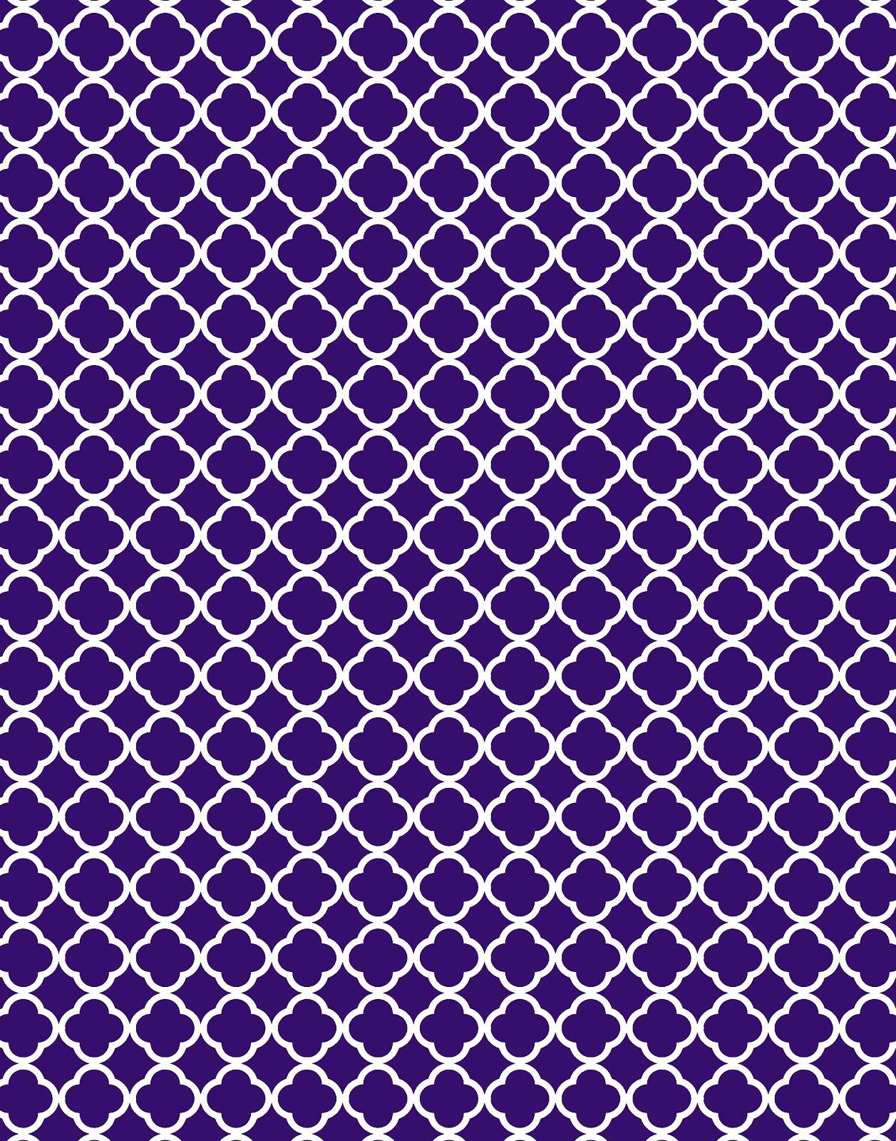 Freebie 3 Quatrefoil Backgrounds