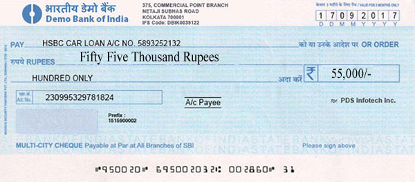 Bank Cheque Format