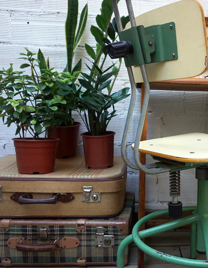 Un espacio de trabajo vintage- industrial