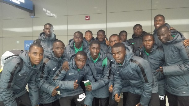Golden Eaglets Landed In Korea In Preparation To Take On England