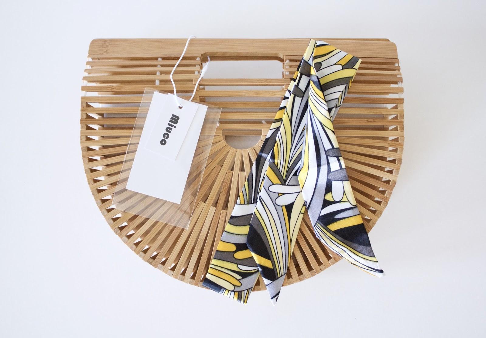 Amazon Miuco Handmade Bamboo Ark Purse Size Small