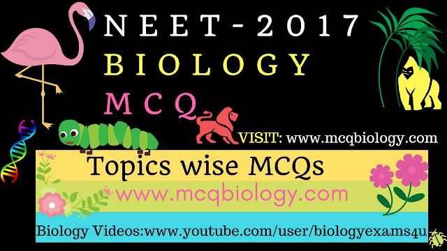 NEET Biology MCQ 2017