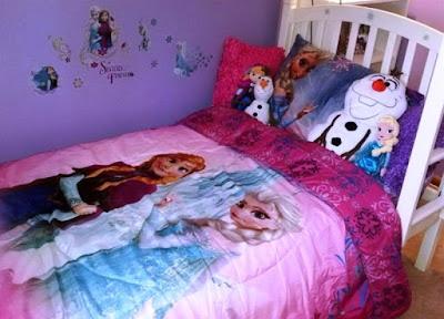 Contoh Kamar Minimalis Anak Perempuan Tema Frozen