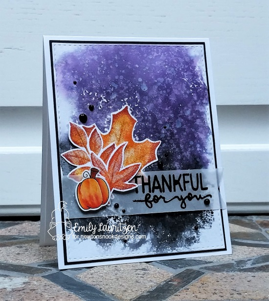 Thankful for you by Emily features Shades of Autumn and Newton's Perfect Pumpkin by Newton's Nook Designs; #newtonsnook