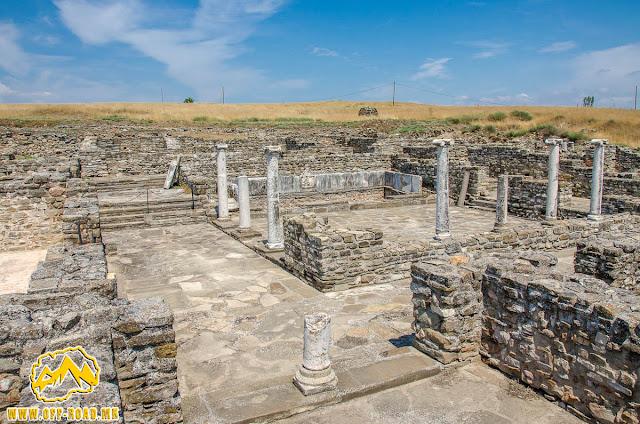 THE HOUSE OF PERISTERIA #Stobi Archaeological site #Macedonia