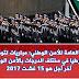 المديرية العامة للأمن الوطني : مباراة توظيف 1000 مفتش شرطة و70 ضابط أمن و260 ضابط شرطة و90 عميد شرطة و4120 حارس أمن.