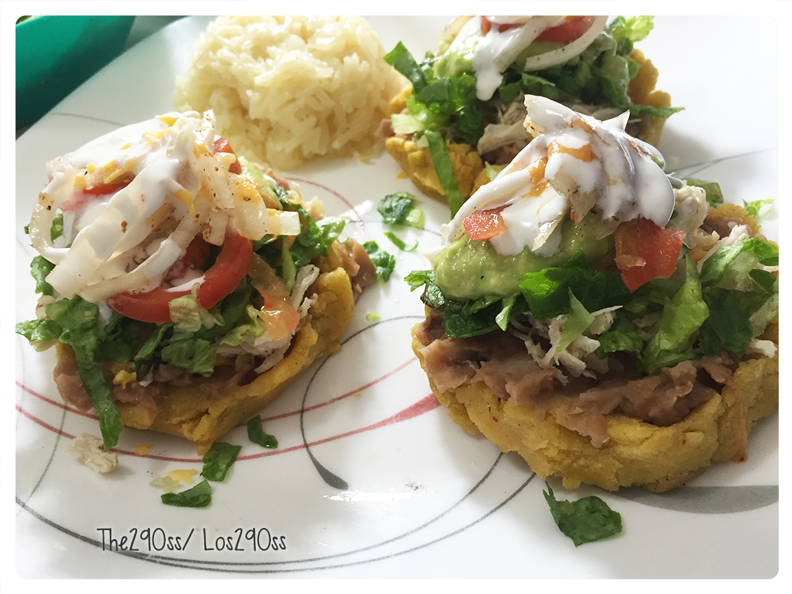 The290ss: RECIPE: Mexican Sopes with Beans, Cheese and More