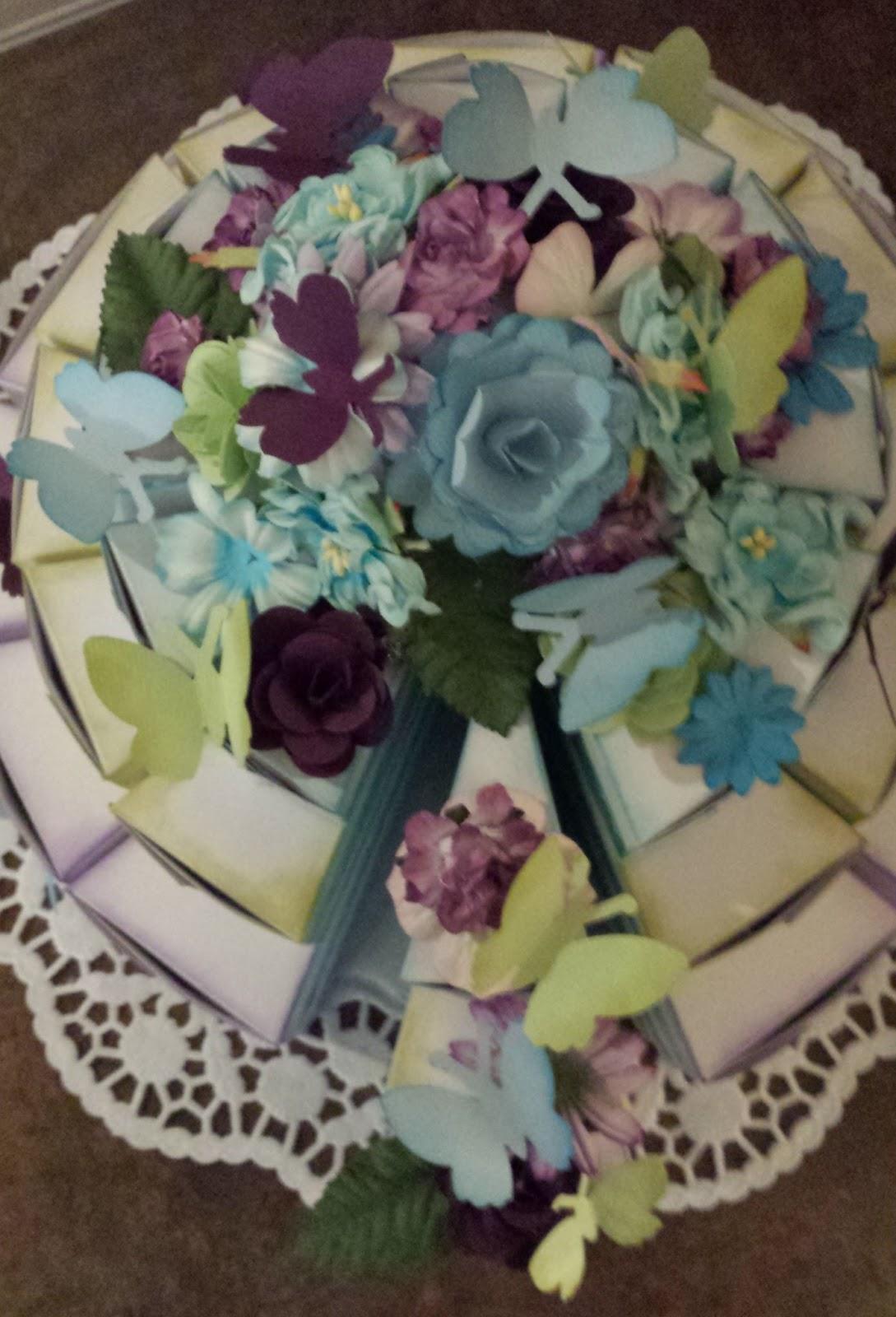 Hochzeitstorte lila turkis