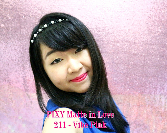 PIXY Matte in Love Lipstick 211 Vibe Pink