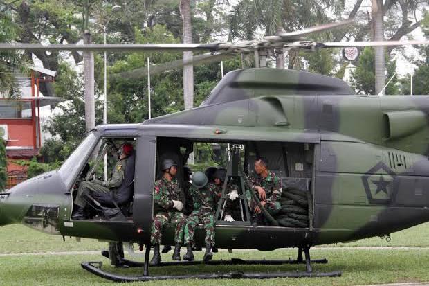 helikopter TNI AD jatuh