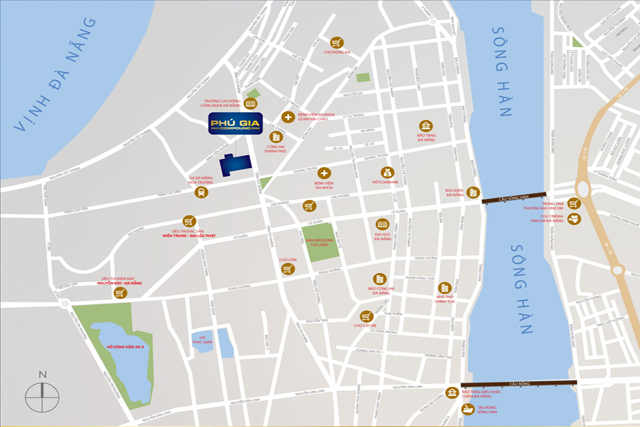 vị trí Phú Gia Compound Đà Nẵng