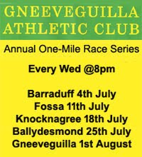 One Mile race Series - Cork/Kerry - Jul/Aug 2018
