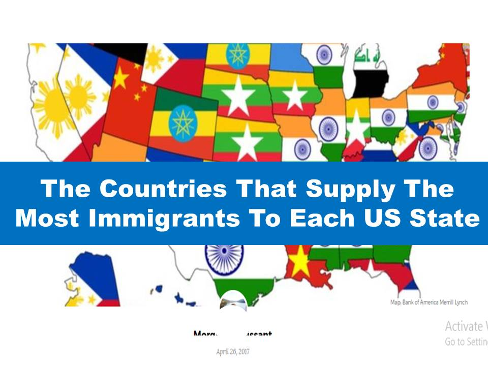 Philippines Leads In  States In Supplying Immigrants To USA - Us map of immigrants