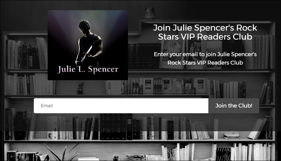 Join Julie Spencer's Rock Stars VIP Readers Club