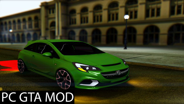 Free Download  Vauxhall Corsa VXR 2016 Mod for GTA San Andreas.