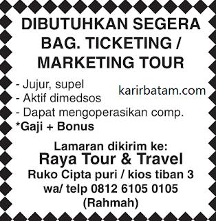 Lowongan Kerja PT. Raya Tour and Travel