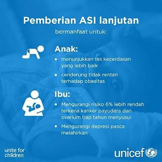 Manfaat Memberikan ASI Pada Bayi Hingga 2 Tahun Menurut UNICEF