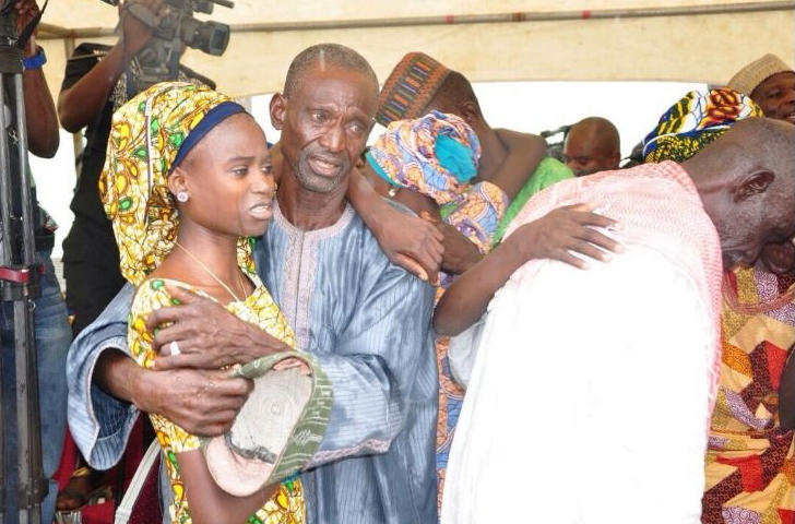 chibok girls reunite with parents abuja