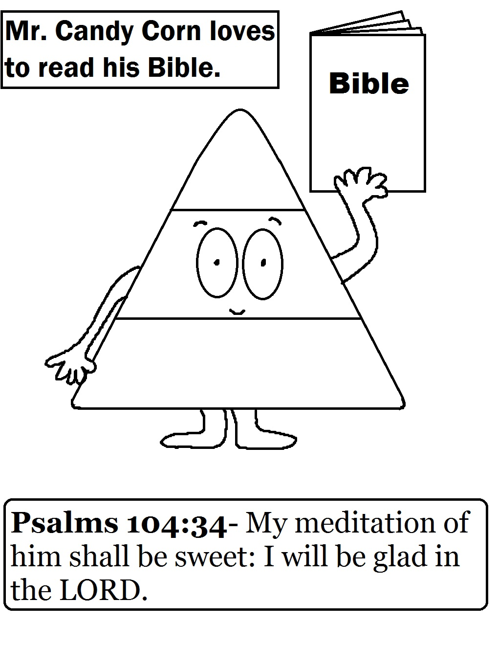 Church House Collection Blog Candy Corn Coloring Page For Sunday School