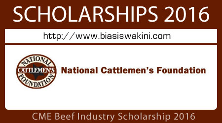 CME Beef Industry Scholarship 2016