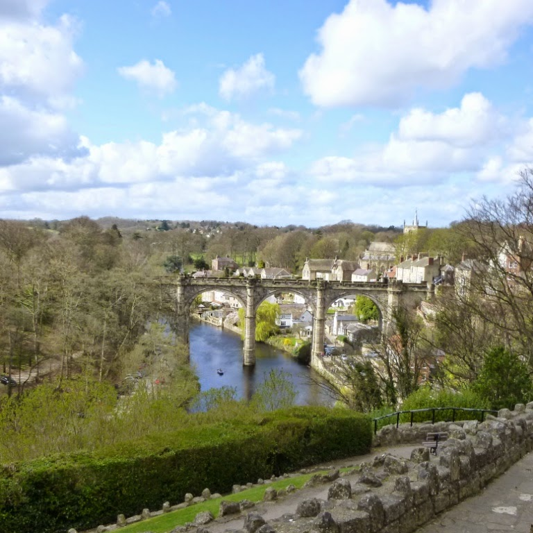 A view of the viaduct in Knaresborough from the Castle Yard