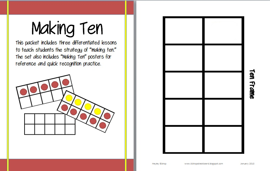 ten frame template – Ten Frame Worksheets