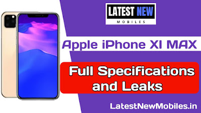 Apple iPhone XI MAX full specifications