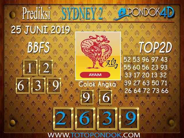 Prediksi Togel SYDNEY 2 PONDOK4D 25  JUNI 2019