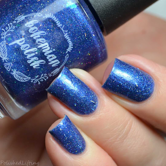 holo blue nail polish