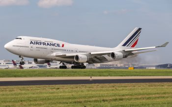 Wallpaper: Air France Boeing 747