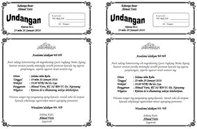 Surat Undangan Kintun DO'A Bahasa Jawa F4 Dibagi 2