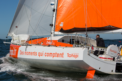 Sébastien Marsset avec Jean-Luc Nélias sur la Normandy Channel Race