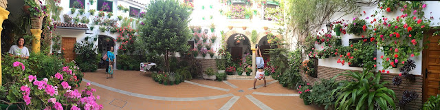 The (handstand) patios were very impressive
