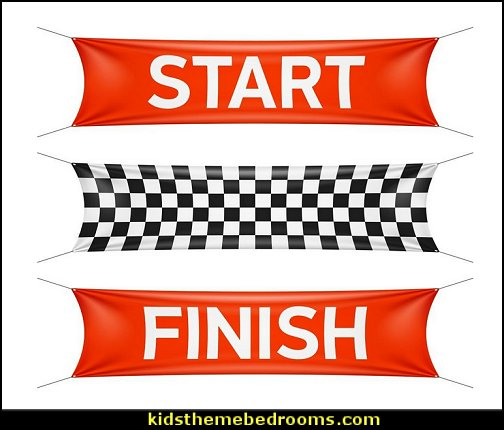 Starting and Finishing Lines Peel and Stick Wall Decals