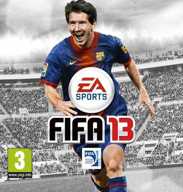 Jogador do Barcelona e da seleção argentina Lionel Messi no game FIFA 13.
