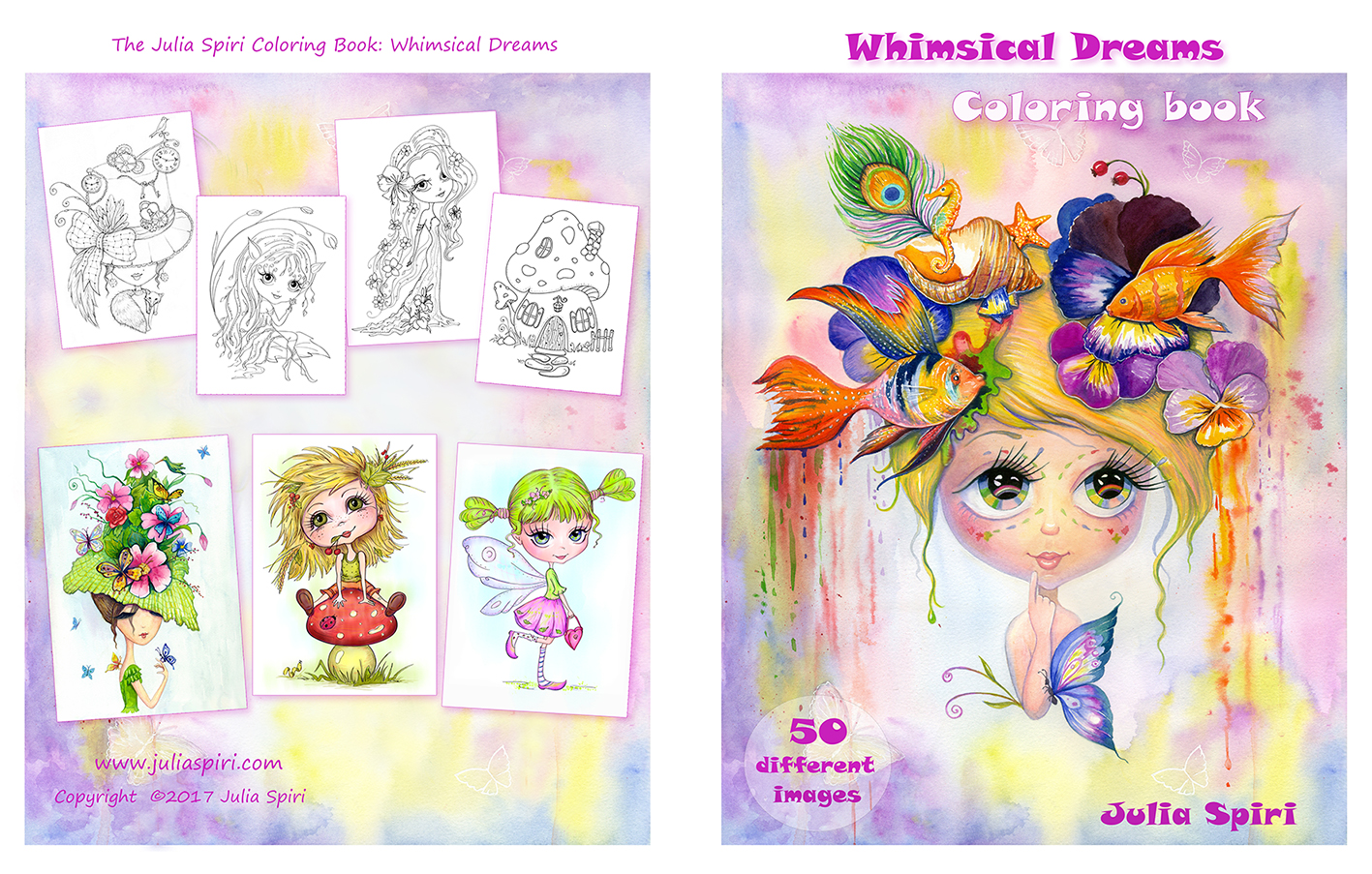 The Julia Spiri FIRST COLORING BOOK Whimsical Dreams
