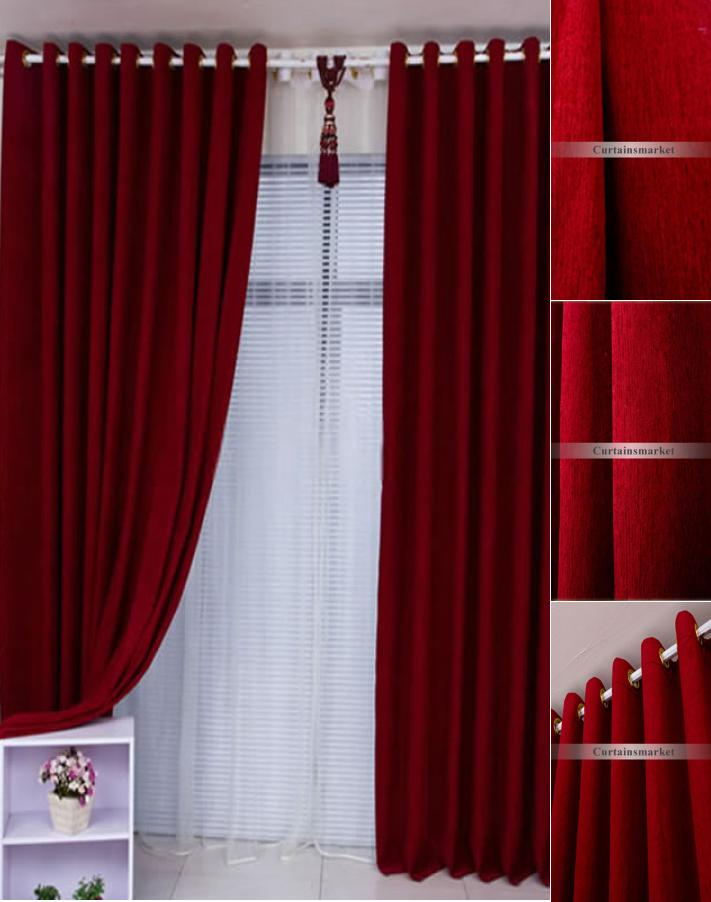 Hanging Door Curtains Double Curtain Rods Eyelet Heavy
