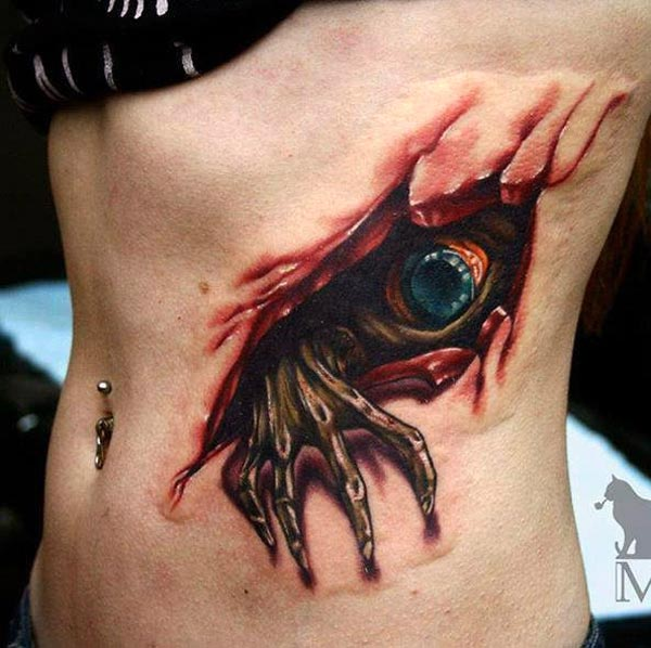Evil Chameleon Tattoo: Tattoos Design Ideas: 32 Best Realistic 3D Tattoos Design